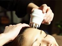 頭皮の活性化、トレーニング(マイクロカレント&EMS(IW波))